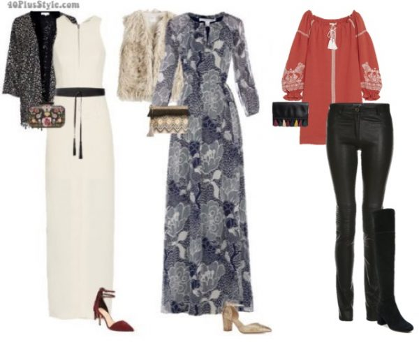 bohemian holiday party looks | 40plusstyle.com