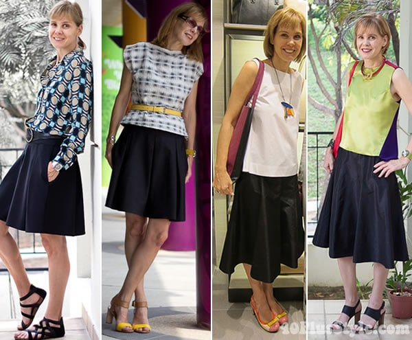 How To Wear An A Line Skirt Over 40