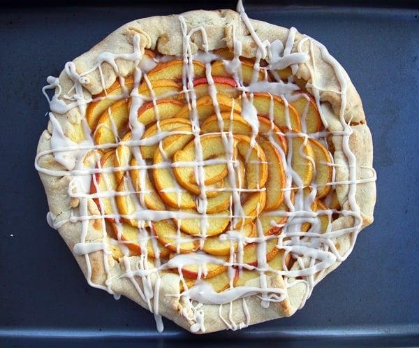 Peaches Galette with Cream