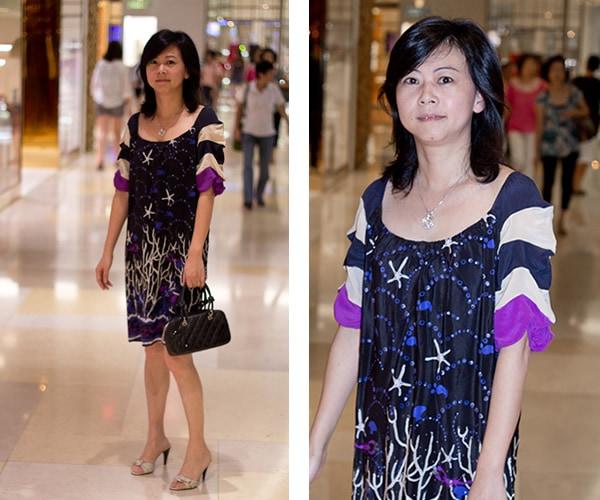 blue print dress | 40plusstyle.com