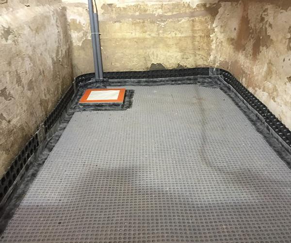 Kelderdichting dmv vloerdrainage systeem te Aalst, Herdersem 5