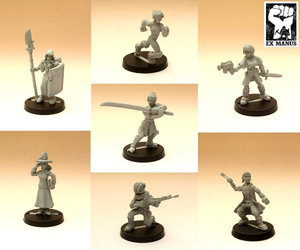Seven new gaming miniatures available from Ex Manus Studios