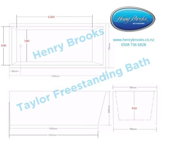 taylor freestanding bath dimensions Henry Brooks