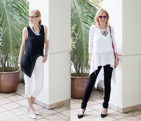 80752d6d08a8 How to wear leggings over 40, 50, 60 and beyond. | 40plusstyle.com