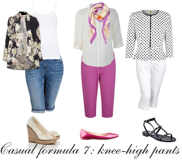 Casual outfit formula 7: knee-high pants | 40plusstyle.com