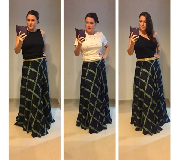 #40plusstyle inspiration: checkered skirt | 40plusstyle.com