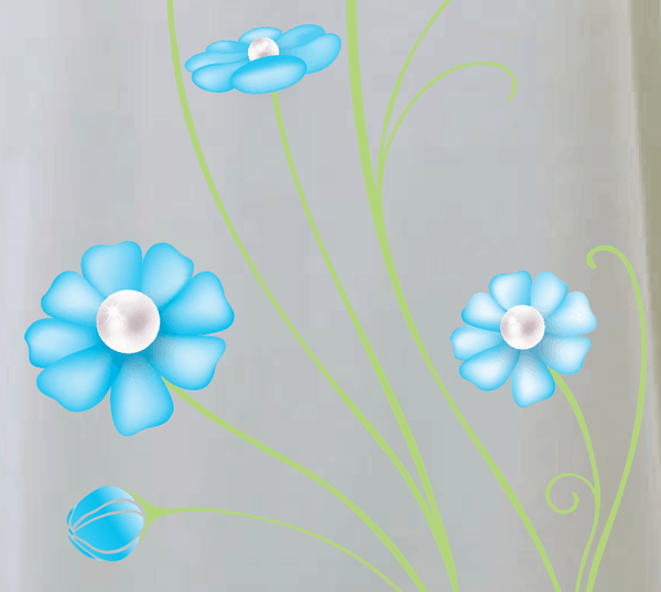 Flowers Gradient Mesh