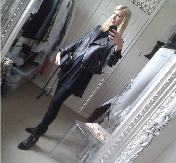 #40plusstyle Inspiration: an edgy outfit with leggings   40plusstyle.com