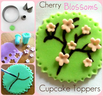 Making Cherry Blossom Toppers