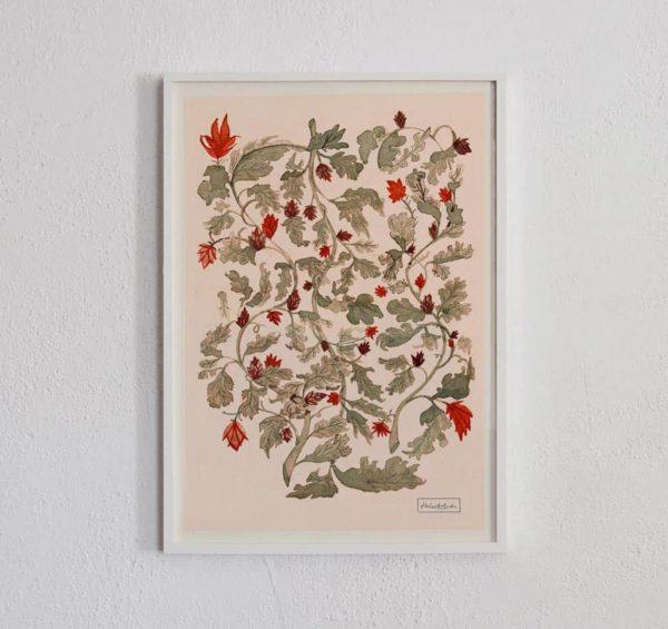 Vine & Flowers framed