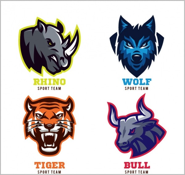 Animal Badges For Sport Teams Free Vector
