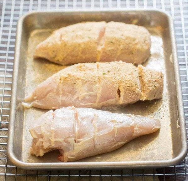How to make chicken cordon bleu - step 1