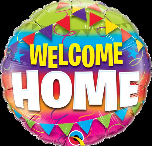 Ballon rond Welcome HOME à envoyer