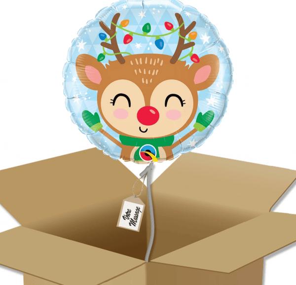 Ballon rond dessin renne dans sa boîte.