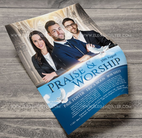 Free PSD Praise Worship Flyer Template