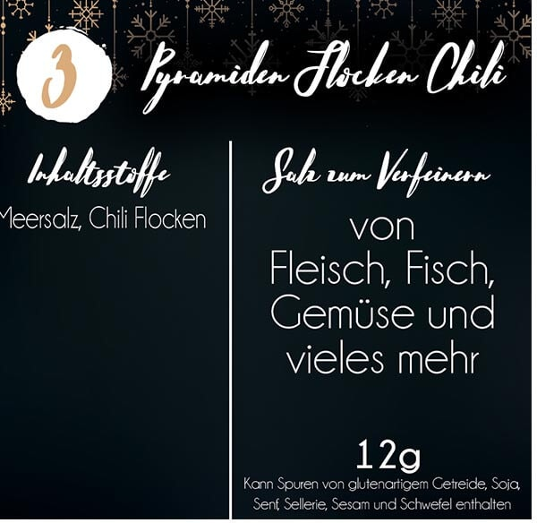 chili flocken im adventskalender