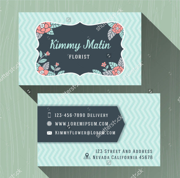 Flower Shop Business Name Cards Template