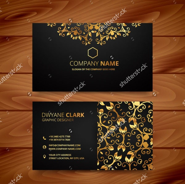 Golden Flower Luxury Business Card