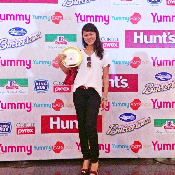 With my YUMMY Eats passport and golden plate.