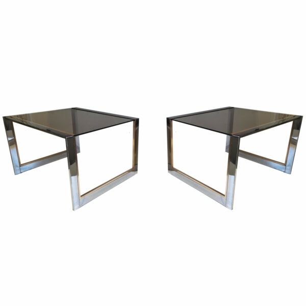 Belgo Chrom Tables d'Appoint, 1970s
