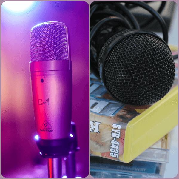 microfono barato para usar en un karaoke