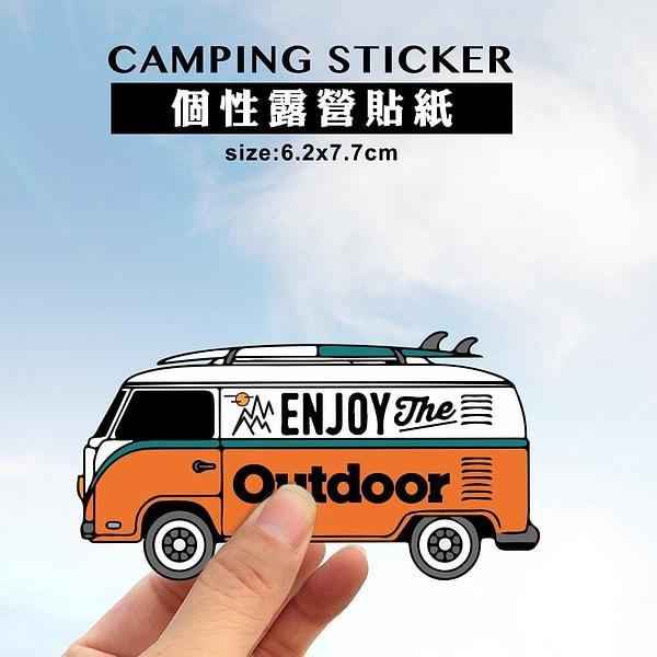 outdoor露營品牌防水貼紙