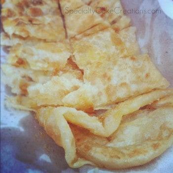 Closeup of Thai Pancake