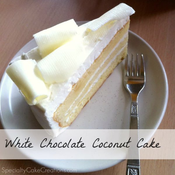 White Chocolate Coconut Cake Slice