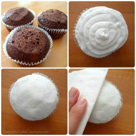 Montage of Icing Cupcakes
