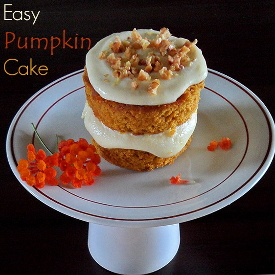 Easy Pumpkin Cakelet