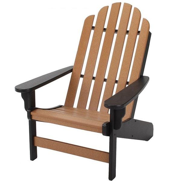 Essentials Adirondack Chair- Black/Cedar