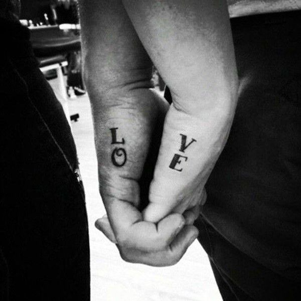 amazing-couple-tattoos-love-word-on-outer-hand