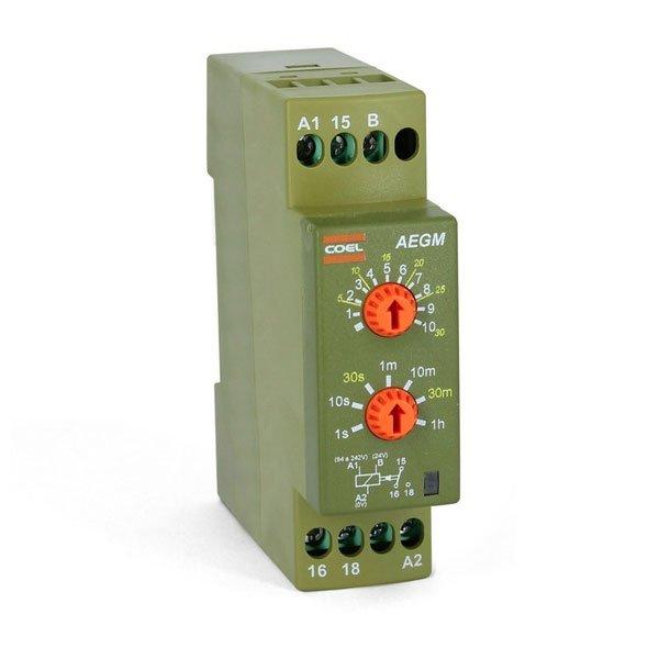 Temporizador Eletrônico AEGM 94 A 242VCA/24VCA/VCC multi escala