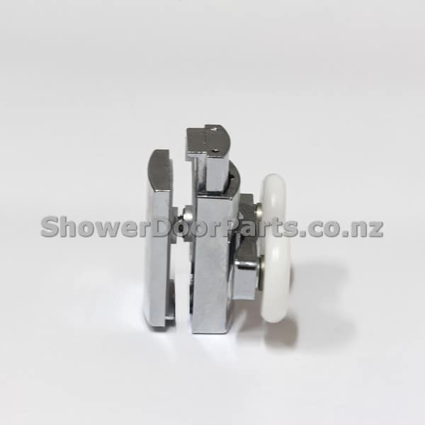 NOB3 double shower door rollers view 1