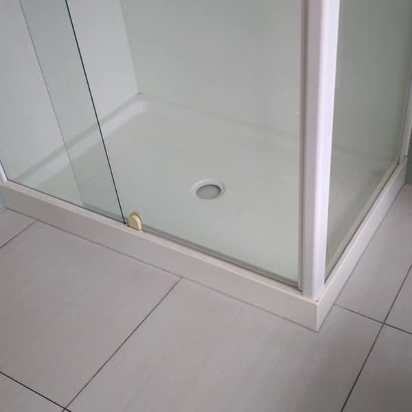 Shower Tray UpStand Seal - 4 lip shower tray seal installed