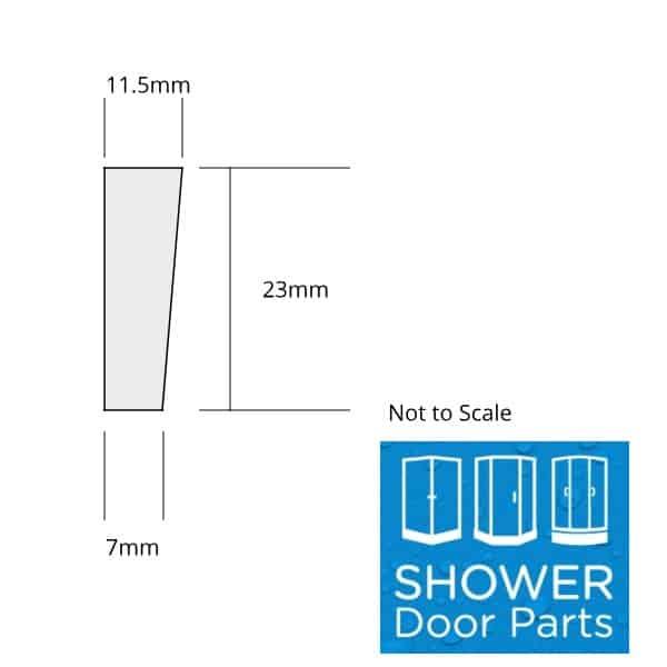 Shower Tray UpStand Seal - 4 lip tray seal sizing SDP