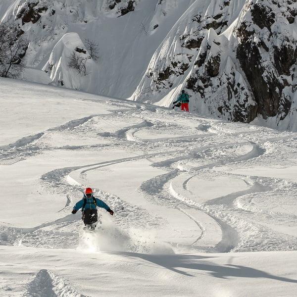 Фрирайд гид на Альпике, Внетрассовое катание