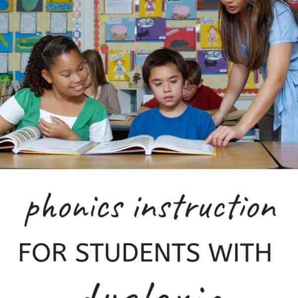 systematic synthetic phonics for students with dyslexia