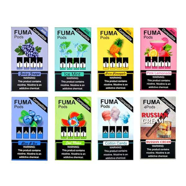 Fuma-pods(フーマポッド)ニコチン入JUUL互換ポッドフルーツをメインとした豊富なフレーバーが人気!アメリカから日本へ個人輸入!