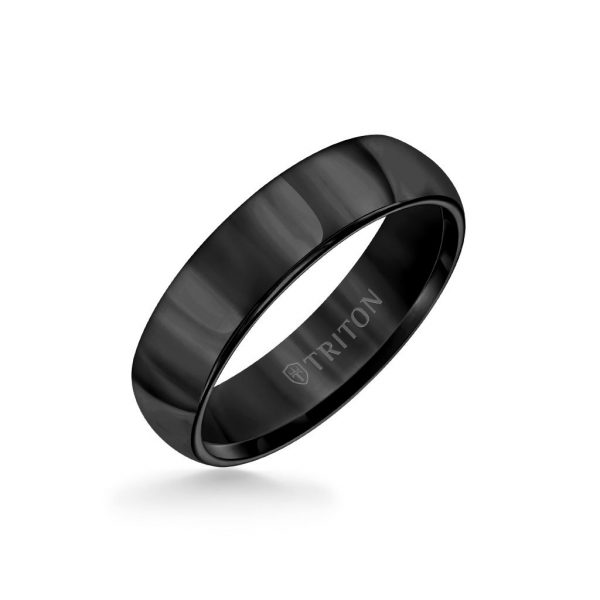 6MM Tungsten Carbide Ring - Domed Bright Finish and Round Edge - 11-2134-6