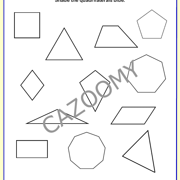 2D Shapes Worksheet 4