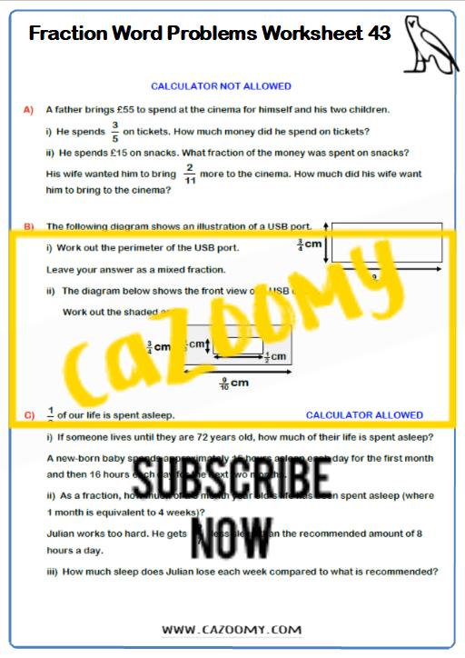 Operating Fractions Worksheet 4