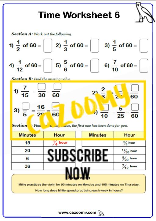 Time Worksheet 6