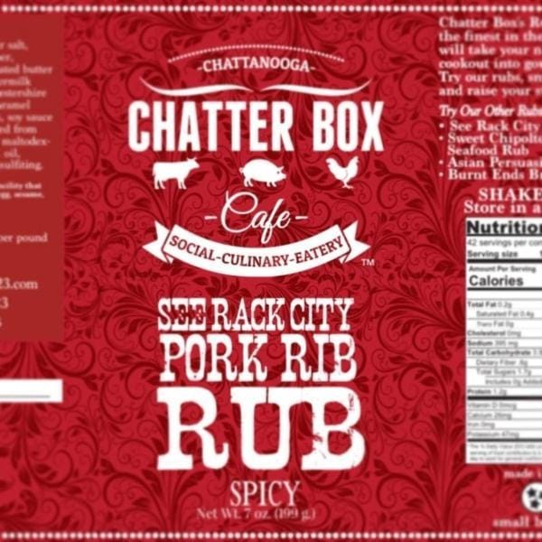 Chatter Box Cafe See Rack City Pork Rib Rub Spicy