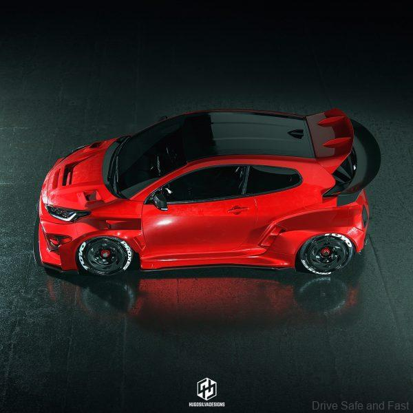 Toyota Yaris GR_Hugo Silva_top view