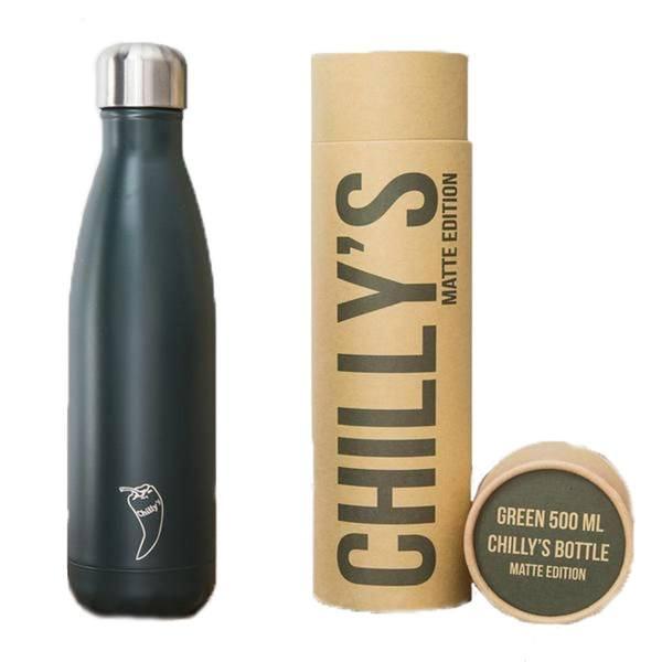 chillys bottles green matte 500ml package