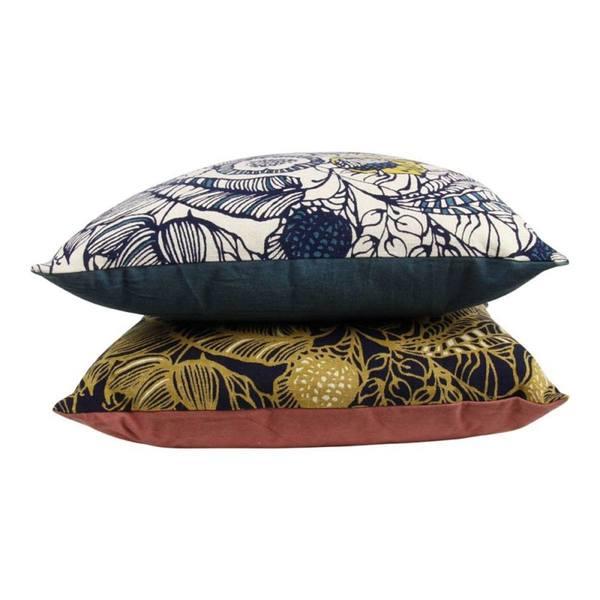 Imbarro kussen Kimono Rhubarb set