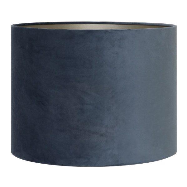 Light & Living lampenkap velours dusty blue cilinder (20-20-15 cm)