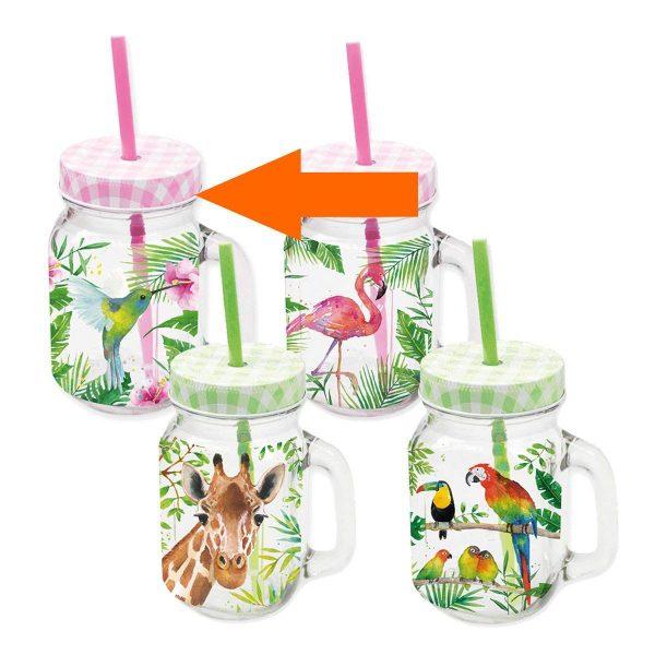 PPD drinkglas Tropical Kolibrie