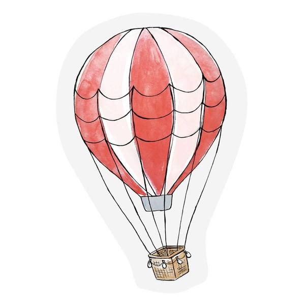 The Gift Label Cut Out Cards Hot Air Balloon
